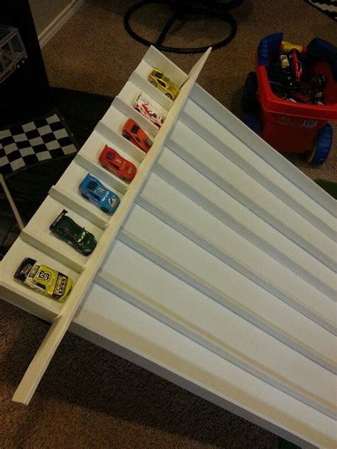 diy homemade race track ramp  tri fold form display