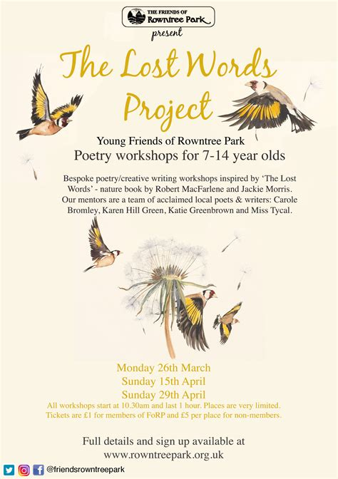 The Lost Words Project News from the Park