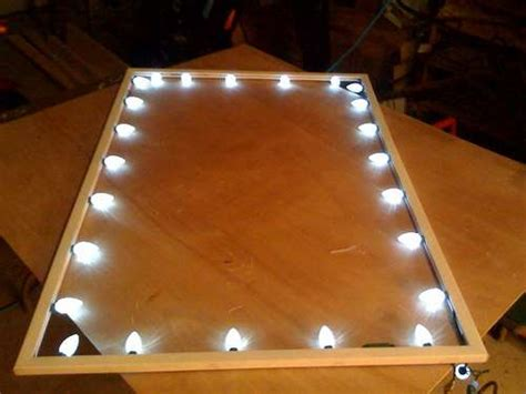 diy how to make window frame lights