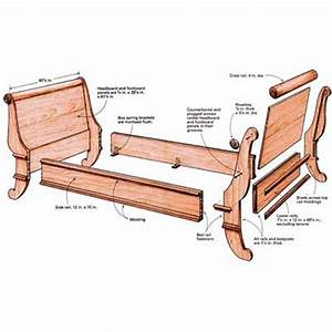 building a sleigh bed finewoodworking With fine 3 bed plans images