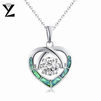 Jewelry Heart Necklaces Pendant Silver Dancing Fine