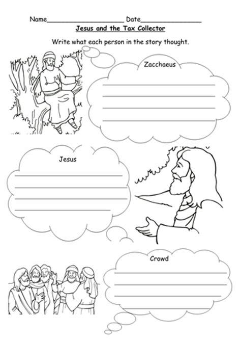 jesus and zacchaeus worksheet by l e1984 teaching