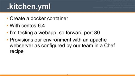Testable Infrastructure With Chef, Test Kitchen, And Docker