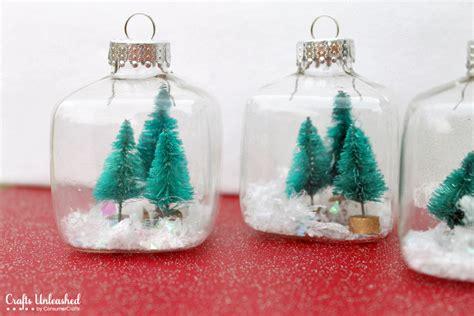 mini christmas ornaments snow globe mini ornaments tutorial