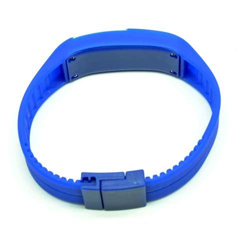Jam Tangan Gelang Led Sporty Murah jam tangan led gelang sport no logo blue