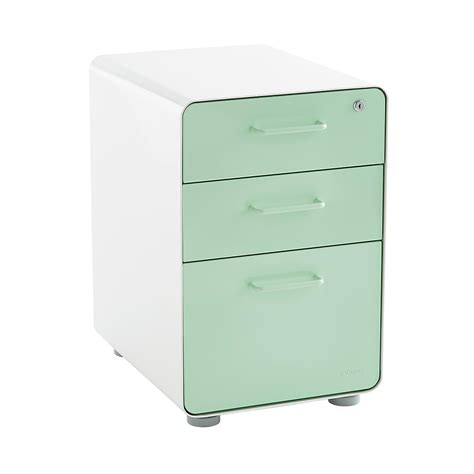 File Folder Cabinet - poppin mint 3 drawer locking stow filing cabinet the