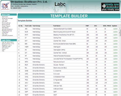 labc template builder labc lab information system