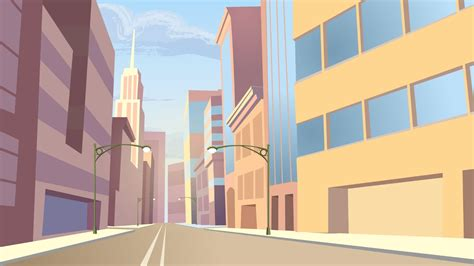 Animated City Wallpaper - rick marin site background for animation project