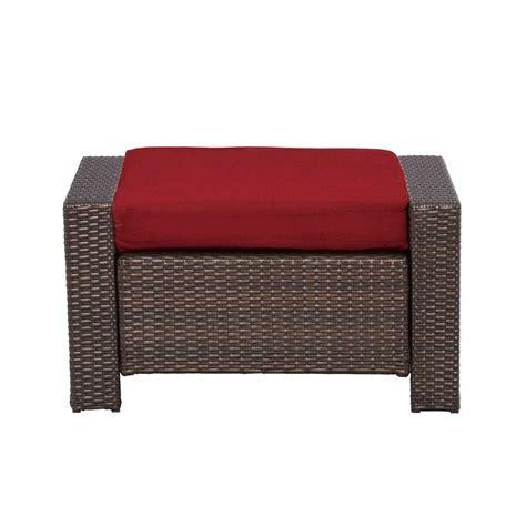 Patio Ottomans - patio ottoman beverly cardinal cushion steel frame