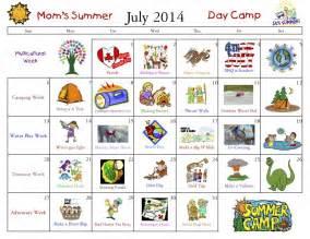 Summer Camp Calendar Ideas