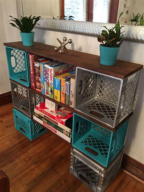Decorating Ideas With Crates by Milk Crate Milk Crate Furniture Milk Crates Living