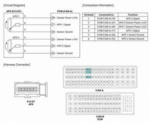 Kia Sorento  Circuit Diagram - Accelerator Position Sensor  Aps
