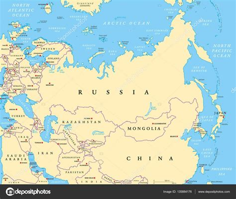 karta evrazii politicheskaya karta evrazii vektornoe