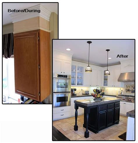 update cabinets with trim great molding ideas for you home islands kitchen