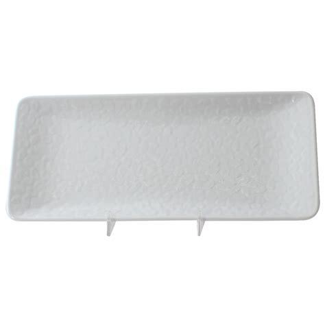 rectangular dinnerware thunder group 24110wt classic white rectangular melamine plate 11 1 4 quot x 5 quot lionsdeal