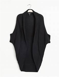Gilet Long Grosse Maille : gilet jet long grosse maille noir femme jennyfer ~ Melissatoandfro.com Idées de Décoration