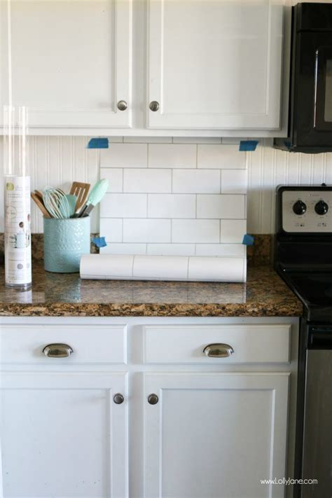 Kitchen Backsplash And Subway Tile by Faux Subway Tile Backsplash Wallpaper The Moon