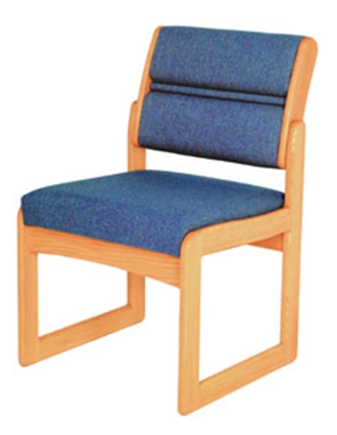 wooden mallet sled base guest chair w o arms standard