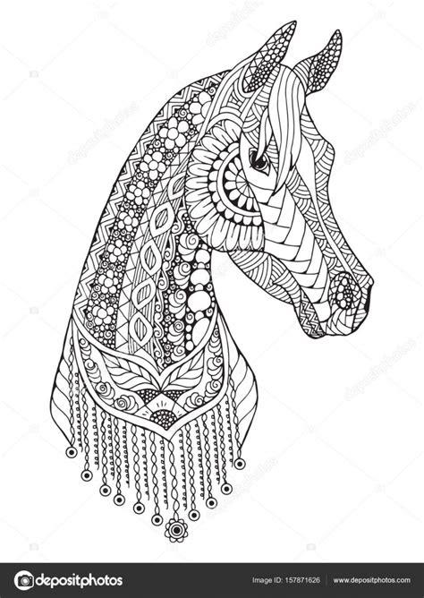disegni da colorare  cavalli arabi cavallo arabo