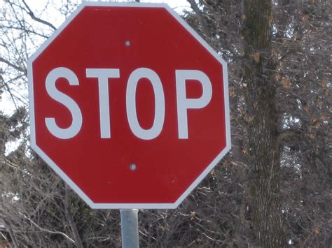 What Not To Do At A Stop Sign