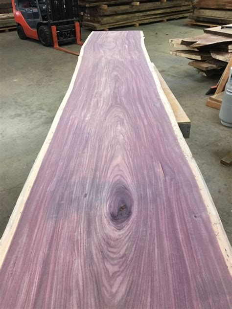 purple heart  edge slab hardwood source