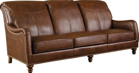 Longwood Sofa, Stickley Fine Leather Collection