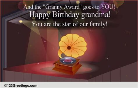 happy birthday granny  grandparents ecards greeting