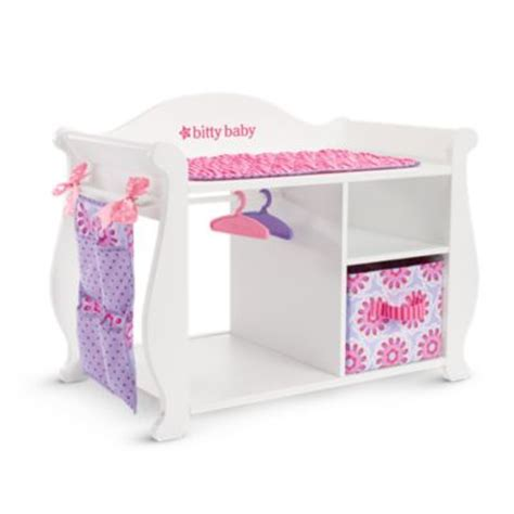 baby alive changing table bitty 39 s baby doll changing table storage american