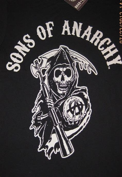 sons of anarchy kleidung sons of anarchy reaper logo t shirt officially licensed soa merchandise ebay