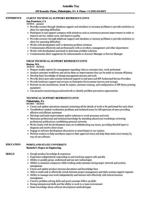 Technical Support Representative Resume by Technical Support Representative Resume Bijeefopijburg Nl