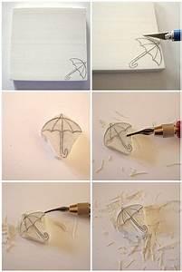 Stempel Selbst Herstellen : stamp carving tutorial stempel herstellen stempel ~ Watch28wear.com Haus und Dekorationen