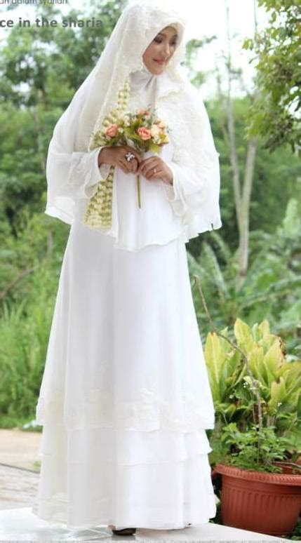 gaun akad pengantin muslimah galeri ayesha jual baju
