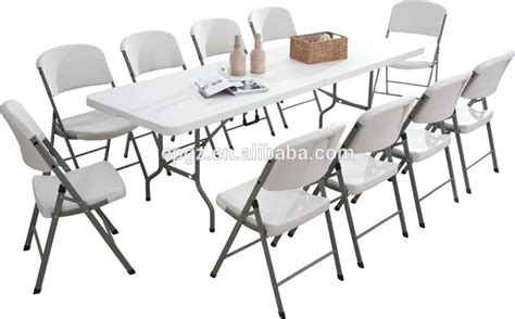 white folding dining table and chairs outdoor plastic white folding dining table chair for