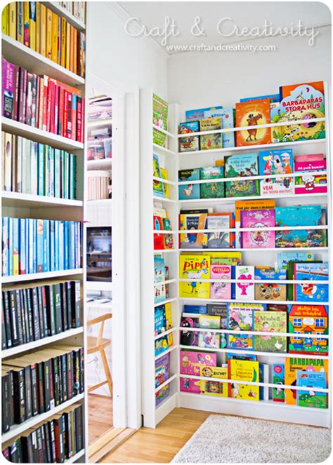 childrens book rack inred med b 246 cker decorate with books craft 2169