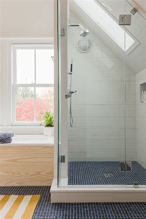 pretty tile shower ideas  candle wall sconce window