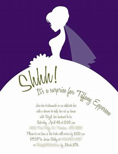 Shower Bridal Invitation Invitations Template Wording Templates