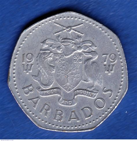1979 dollar coin coin of 1 dollar 1979 from barbados id 11307