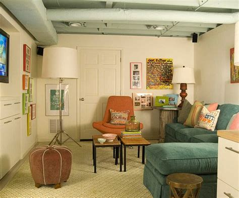 Small Basement Family Room Decorating Ideas by Living Room Design Ideas Exposed Ceilings Basement
