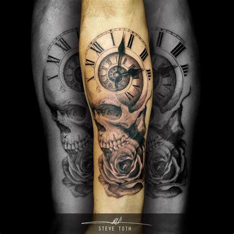 images  steve toth  pinterest tattoo clock soldier tattoo  skulls