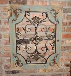 rustic turquoise wood metal wall decor cottage chic With wood and metal wall decor