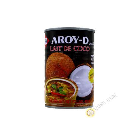 lait de coco cuisine lait de coco pour la cuisine aroy d 400ml thailande