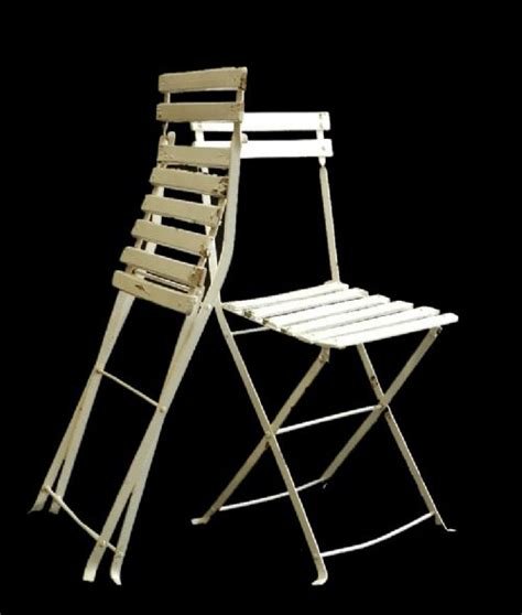 superb set of 4 folding garden patio chairs painted