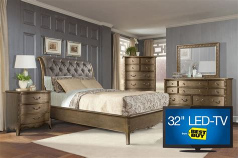 gardner white bedroom sets jovani king bedroom set with 32 quot tv