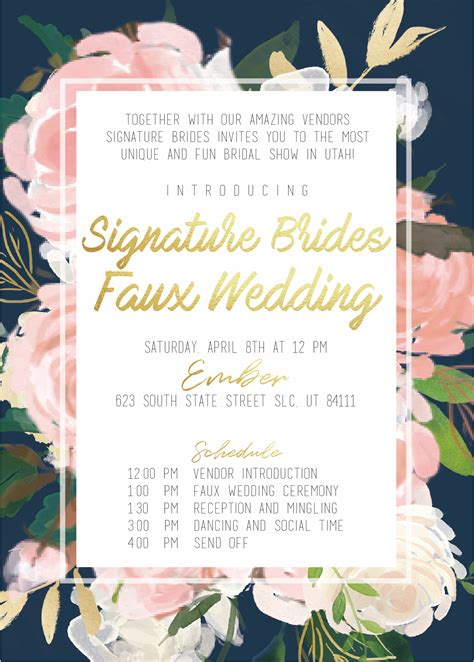 Signature Brides Design Faux Wedding Salt Lake Bride