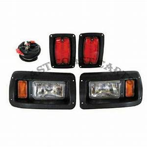 Club Car Ds Light Kit Adjustable Headlight W  Led Taillight
