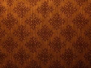 Damask Vintage Brown Gold Canvas Texture Background - PhotoHDX