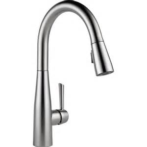 moen kitchen faucet handle repair delta faucet 9113 ar dst essa arctic stainless pullout