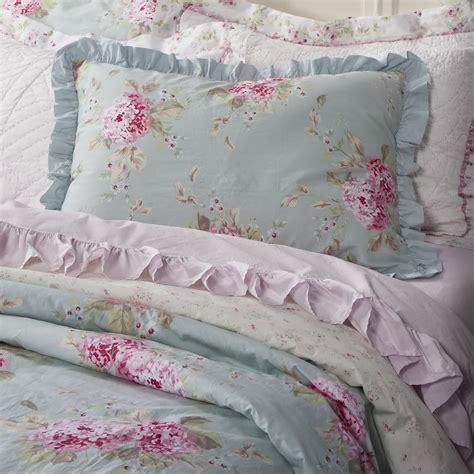 Simply Shabby Chic Belle Hydrangea Rose Twin Duvet Set New