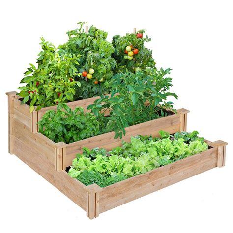 7359 greenes raised beds greenes fence 4 ft x 4 ft x 21 in 3 tiered cedar raised