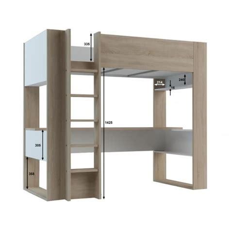 lit mezzanine avec bureau but lit mezzanine noah avec bureau et rangements intégrés